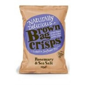 Brown Bag Crisps Rosemary & Sea Salt  40g