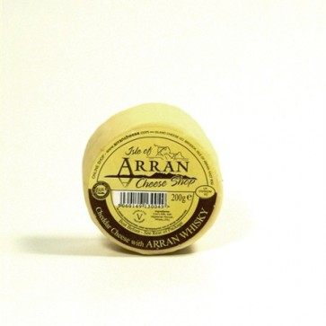 Arran whisky flavoured cheddar cheese 200g truckle
